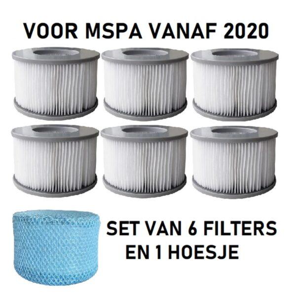 6 MSpa filters + 1 hoesje