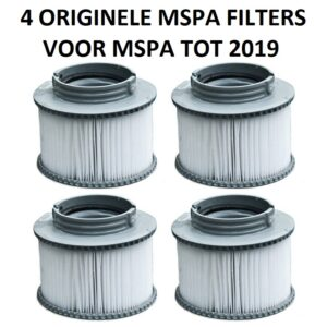 4 originele MSpa filters