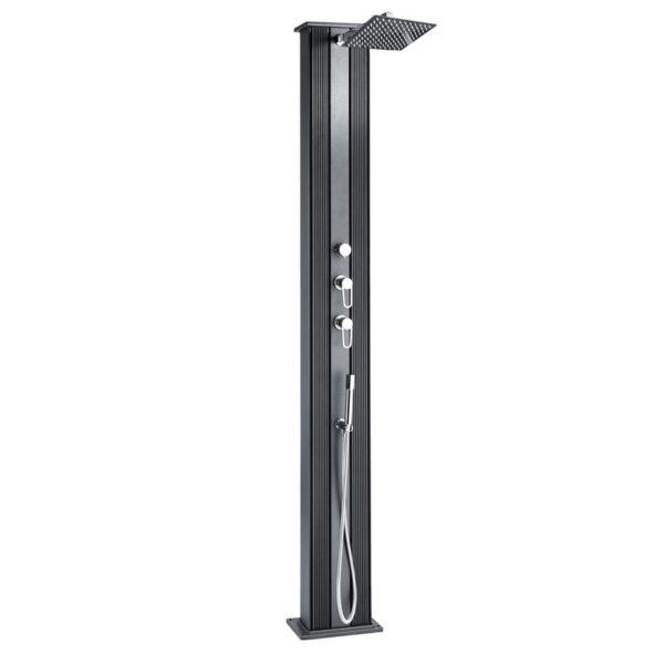 Hybride tuindouche Dada aluminium 37 liter antraciet